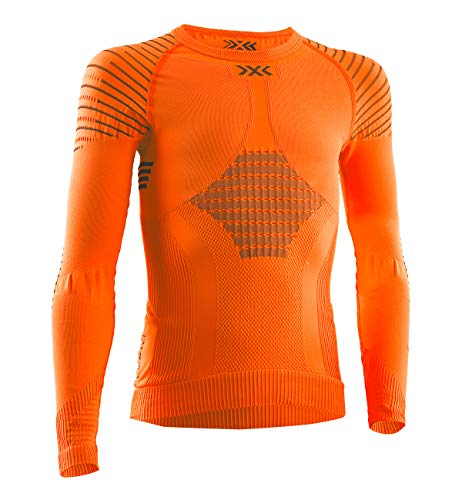 X-Bionic Kinder Invent 4.0 Shirt Round Neck Long Sleeves JUNIOR, Sunset orange/Anthra, 12/13