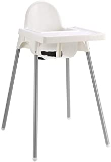 Baby High Chair Baby High Chair, White Dining Chair Child Seat Multi-function Portable Baby Chair with Tray and Non-slip Mat