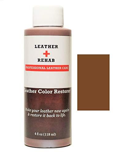 Leather Color Restorer - Saddle Brown - Repair Sofa, Vinyl, Furniture,...