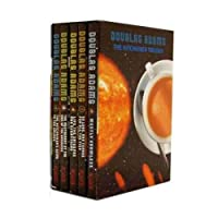 Hitchhiker's Guide to the Galaxy Trilogy Collection 5 Books Set by Douglas Adams 9123918438 Book Cover