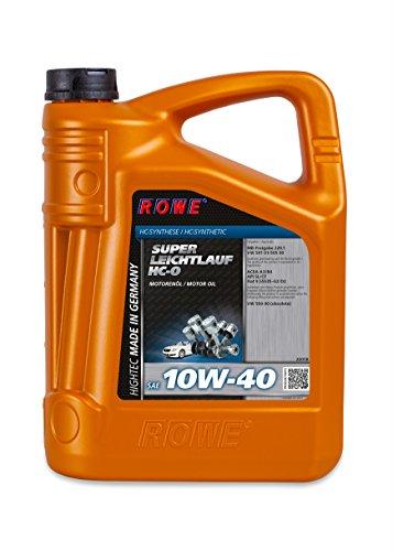 ROWE - 5 Liter HIGHTEC SUPER LEICHTLAUF 10W-40 HC-O Motorenöl - hervorragend für PKW mit Turbomotoren geeignet