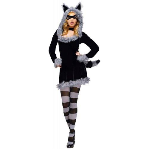 Generique - Waschbär-Kostüm sexy für Damen schwarz-grau M / L