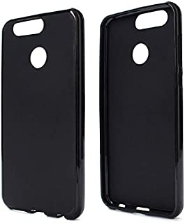 Silicone Back Case Cover By Ineix For Huawei Nova 2 Plus - BLACK