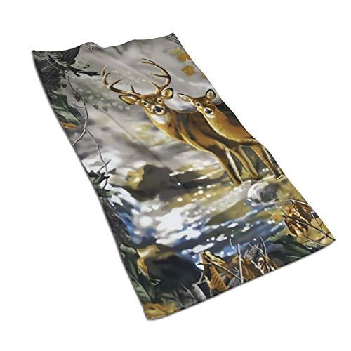 Antvinoler - Toallas de mano para baño, accesorios de baño, diseño de camuflaje, 27,5 x 39,7 pulgadas
