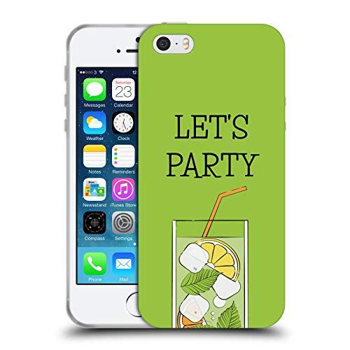 Head Case Designs Licenza Ufficiale Martina Illustration Facciamo Festa Summer Vibes Cover in Morbido Gel Compatibile con Apple iPhone 5 / iPhone 5s / iPhone SE 2016