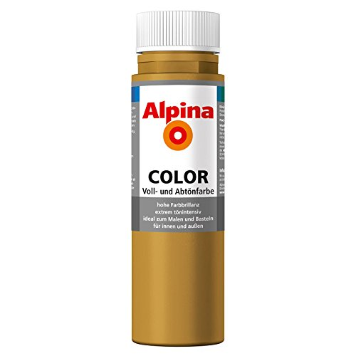 ROLLER Alpina Voll- und Abtönfarbe COLOR - saharabraun - 250 ml