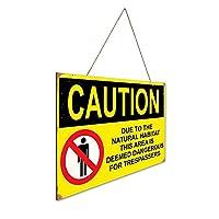 自然生息地に起因する注意は危険と見なされます 木製ポスターレトロなポスター安全標識壁パネル木材注意標識壁標識警告標識絵画標識ショップ興味標識警告装飾壁掛け部屋の装飾背景絵画壁画アートストア食料品ショッピングモール駐車場バークラブカフェレストラントイレ公共の場誕生日プレゼント