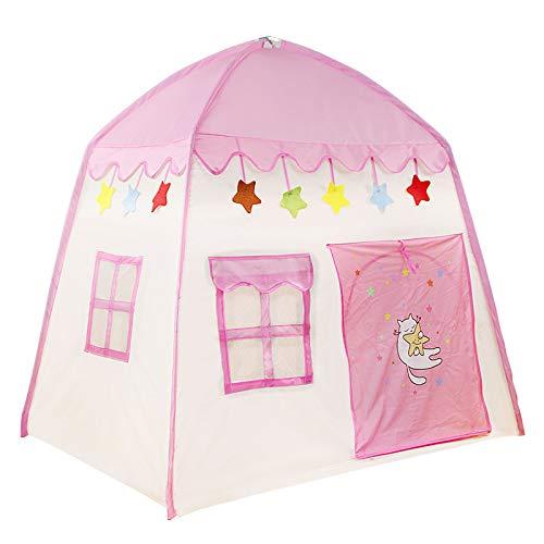 SNOWINSPRING Ni?Os Interior Al Aire Libre Castillo Tienda Bebé Princesa Juego Casa Flores Floreciente Casa Juego Plegable Casa Regalos (Rosa)