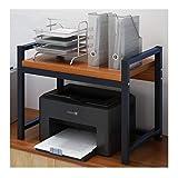 Soporte de Impresora Hogar creativo Impresora Estante doble de superficie de almacenamiento en rack multifunción moderna minimalista de múltiples capas de rack rack de copia for Office Estante del sop