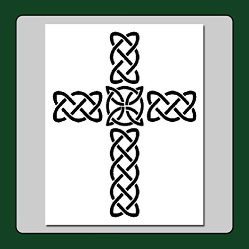 Celtic Knot Cross Stencil Template Medieval/Irish/Wiccan Home/Decorative (Large 8 x 10 inch, Image Dimensions 7' X 9')