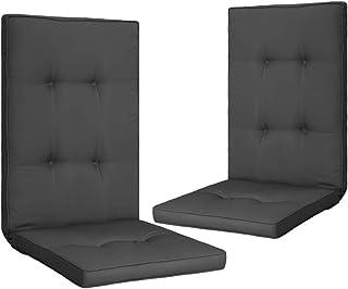 Goliraya Cojines para sillas de jardín 2 uds Gris Antracita,Cojines Silla,Cojines sillas Exterior,Cojines Jardin Exterior,Cojines terraza Exterior,120x50 cojincojines 120x50x5 cm