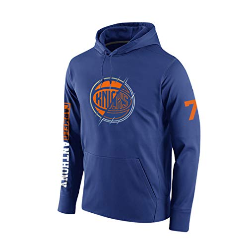 HSLIUYILYA Baloncesto Sudaderas NBA - New York Knicks # 7 Carmelo Anthony - Ropa Sudadera con Capucha Sudadera con Capucha Ocasionales De Los Deportes,L(165~170cm/55~65kg)