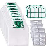 10 Sacchetti Filtri per Folletto VK200 VK220 VK220S con 2 Filtri