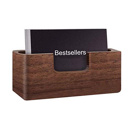 Visitenkarten-Etui Kreative Massivholz-Visitenkarte Fall mit der großen Kapazität des Kartenspeicher-Box, Visitenkarte Ausstellungsstand Massivholz-Schreibtisch Speicher-Karten-Kasten Visitenkartenbox