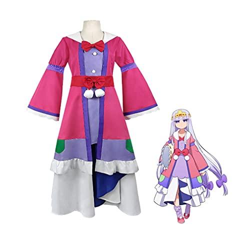 CGBF-Disfraz de Cosplay de Princesa Anime para Adultos para Halloween Carnival Fancy Dress Juego de Dibujos Animados Uniforme de Fiesta Conjunto Completo,Rosado,XL