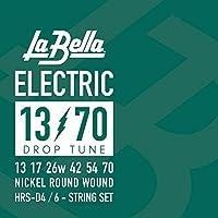 LA BELLA (ラベラ) ドロップチューニング用エレキギター弦 HRS-D4 Drop Tune Electric Guitar Strings - 13-70