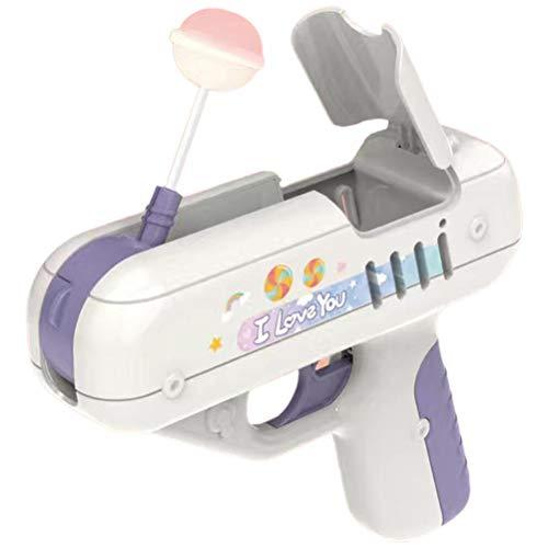 Candy Gun Lollipop Launch Storage Toy Sorpresa Lollipop Gun Niños Candy Toy Lollipop El Mismo Regalo Creativo para Boy Friend Girl Friend