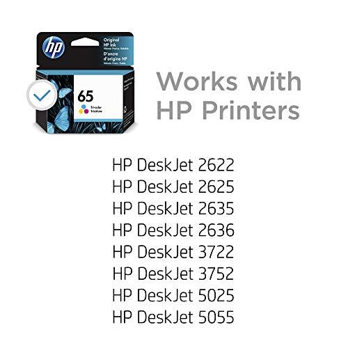 HP 65 dreifarbige Original-Tintenpatrone (N9K01AN) für HP DeskJet 2624 2652 2655 3722 3752 3755 3758
