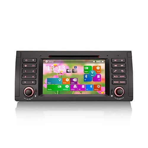 Erisin 7 Pulgadas Autoradio para 5 Series 5er E39 E53 M5 X5 Reproductor Multimedia para Coche Navegación GPS con USB SD SWC