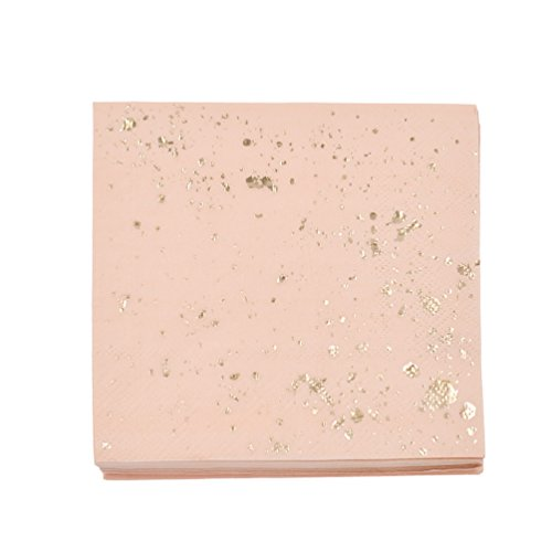 Kesheng Couvert Jetable en Papier Partie Décoration Excursion Pique-Nique Fête Accessoire (Serviette Rose 20pcs)