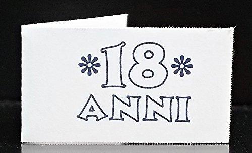 Vinciprova Le Gemme di Venezia 50 Bigliettini Bomboniera 18 Anni Diciottesimo Compleanno Stampa Personalizzata a Colori in Omaggio