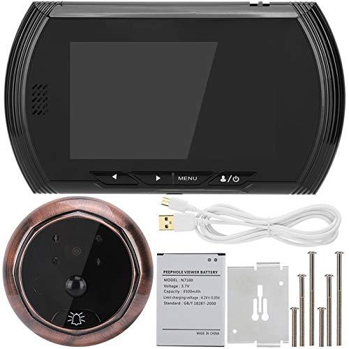 Pantalla de 4.3in HD Visor de puerta inteligente Cámara Video IR Cámara de visión nocturna Intercomunicador de puerta Timbre inteligente Puerta digital Mirilla Visor Timbre inteligente