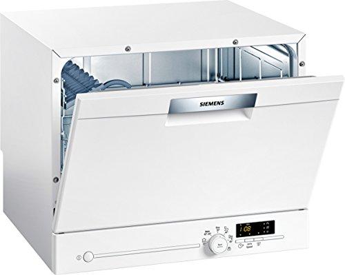 Siemens SK26E221EU iQ300 speedMatic Compact-Geschirrspüler / A+ / 6 MGD / varioSpeed / extraTrocknen / dosierAssistent / aquaStop / weiß