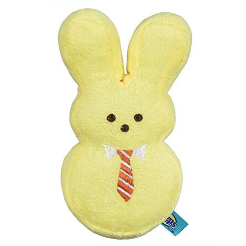 Peeps for Pets Plush Bunny Toy for Dogs, Yellow Mister, Medium | Plush Dog Toy | Fun Way to Keep Your Pet Entertained for Hours | Soft, Cute, Cuddly, and Squeaky Dog Toy for Easter or Everyday Use