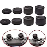 Ambertown Pack of 8 pcs Analog Controller Gamepad Raised Antislip Thumb Stick Grips Thumbsticks Joystick Cap Cover for PS4, PS3, Switch Pro, Xbox one, Xbox 360, Wii U, PS2 Controller (Black)