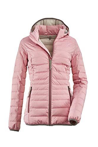 G.I.G.A. DX Damen Uyaka Stripe Casual Funktionsjacke In Daunenoptik Mit Abzippbarer Kapuze, pink, 42