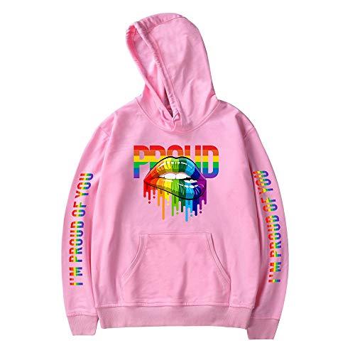 LGBT Pride Sudadera con Capucha Casual Manga Larga Otoño Jersey Sueter Camisetas Tops Deportivos Blusa para Hombres Mujeres Adolescentes