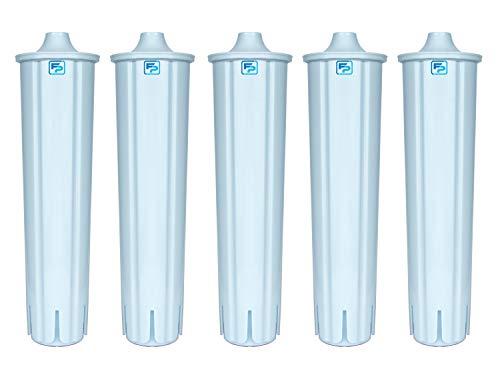 5 Filterpatronen Wasserfilter kompatibel mit Filterpatrone CLARIS BLUE für Jura Kaffeevollautomat Kaffeemaschine IMPRESSA ENA GIGA effektiv mit 2-phasen Reinigungstabletten für Kaffeevollautomaten