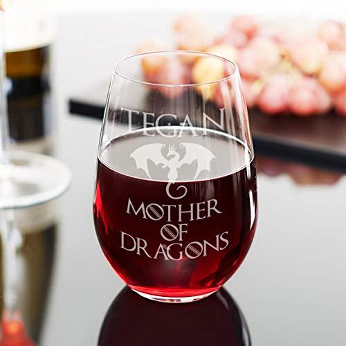 Copa de vino de Madre de Dragones, gran regalo para su GoT Merchandise para Daenerys Targaryen Fan