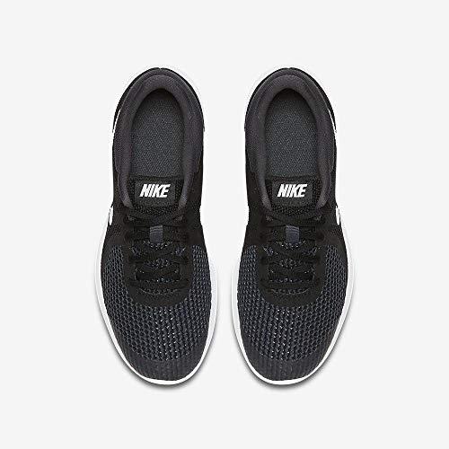Nike Unisex-Kinder Laufschuh Revolution 4, Schwarz - 8