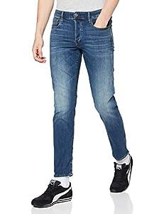 G-STAR RAW Herren 3301-slim Jeans, Blau (Vintage Medium Aged 8968-2965), 38W/34L