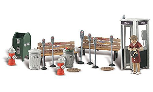Woodland Scenics Street Accessories (Benches, Fire Hydrants, Parking Meters etc.) O Scale