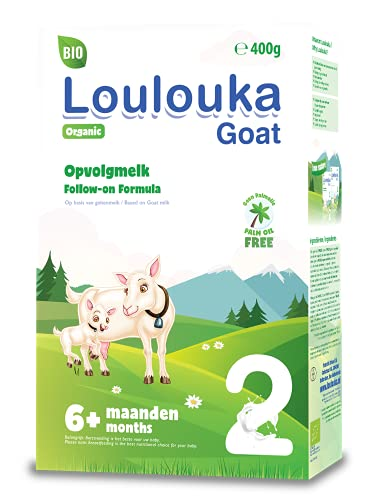 Loulouka Geit Bio 2 - Opvolgmelk - vanaf 6 maanden - 400 gram – Flesvoeding
