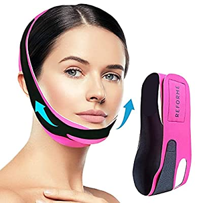 Double Chin Reducer Face Slimming Strap by Reforme, V Line Lifting Mask for Sagging Skin, Anti-Aging Chin Strap by REFORME