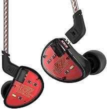 KZ AS10 IEM 5 Balanced Armature Driver Earphone, Stereo HiFi KZ in Ear Monitor Headphone Musician Headset with Detachable 2 Pin Cable(No Microphone, Black)