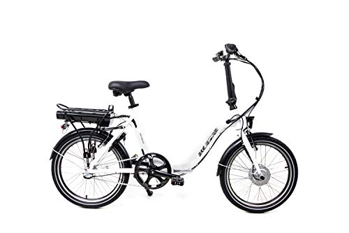 20 Zoll Elektro Faltrad E Bike Klapprad Pedelec Shimano Nexus 3 Gang Rücktritt Weiss