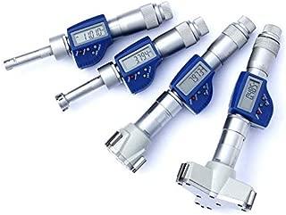 MeterTo IP54 Digital Three-Point Jaw Internal Micrometer (Blind Hole) 40-50mm Digimatic Inner Diameter Micrometer Accuracy ±0.004mm Resolution 0.001mm mm/inch