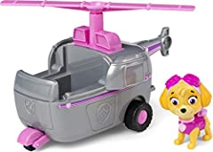 HELICOPTER TOY CAR: Skye's gotta fly in her Helicopter! With authentic detailing, working wheels for land and spinning propeller for air, this chopper is ready to take on exciting rescue missions! COLLECTIBLE SKYE FIGURE: This Helicopter includes a c...