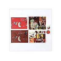2セット 封筒カードアートギャラリー封筒グリーティングカード手紙紙学生愛手紙絵画アート文学半透明装飾