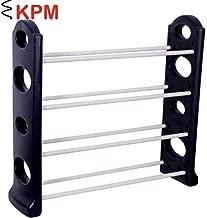 KPM™ Stack-able Black Shoe Rack Organizer