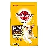 Pedigree Pienso para Perros Adultos Mini Sabor Pollo y Verduras (Pack de 6 x 1,4kg)