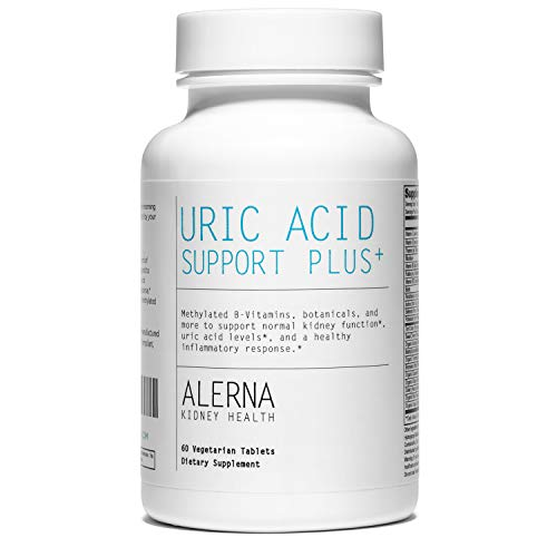 Alerna Kidney Health: Uric Acid Support Plus⁺ with Methylated B- Vitamins, Tart Cherry, Botanicals, and More to Support Normal Kidney Function & Uric Acid Levels