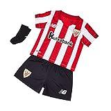New Balance AC Bilbao Primera Equipación 2020-2021 Bebé, Conjunto, Red-White-Black, Talla 12-18m(80-85cm)