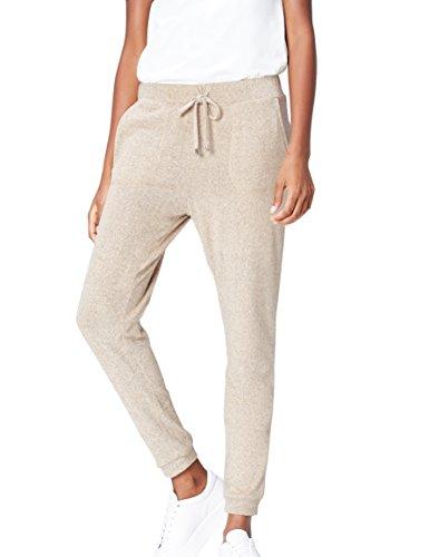 find. Jogginghose Damen mit schmalem Bein und großen Taschen, Beige, 38 (Herstellergröße: Medium)