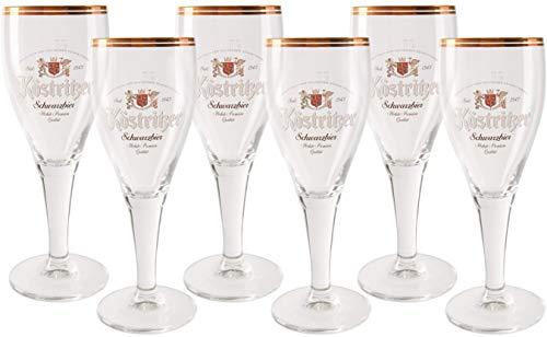 6 original Köstritzer Schwarzbier 0,2l Gläser Pokale