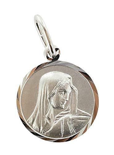 Ferrari & Arrighetti Medalla Virgen de los Dolores de Plata 925-1,6 cm